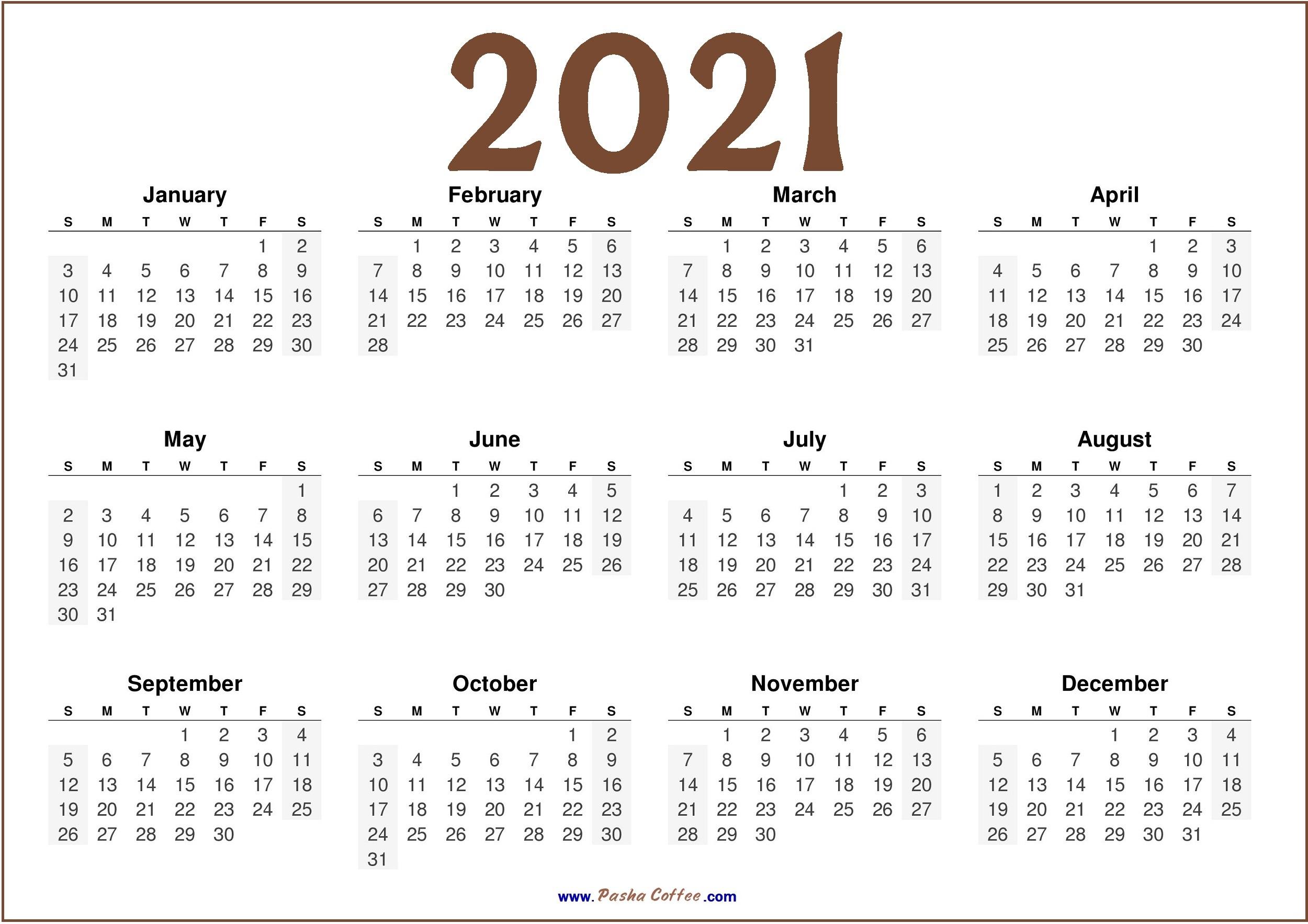 2021 Calendar Jpg 2021 Calendar Free Printable HD  |