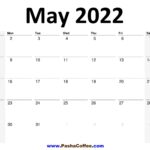 2022 May Calendar Planner Printable Monthly