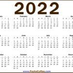 2022 CALENDAR US – FREE PRINTABLE 2022 CALENDAR